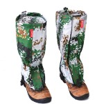 1 Pair Outdoor Water-resistant Camouflage Gaiters Outdoor Skiing Hiking Climbing Walking Snow Leg Protection Guard