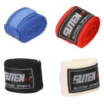 2pcs/roll Width 5cm Length 2.5M Cotton Sports Strap Boxing Bandage Sanda Muay Thai MMA Taekwondo Hand Gloves Wraps 1set