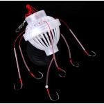 Carbon Steel + Plastics Carp Fishing Hook Sea Monster with Six Strong Spherical Fishing Hooks Tackle Tool