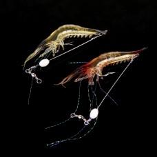 10pcs/lot 18cm 8g Fishing Lure Bionic Shrimp Soft Bait Fishing Tackle with Hook Noctilucent Luminous Night Glow Bead Red