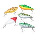 5Pcs/lot 10g 7cm Artificial Multicolor Hard Bait  Fishing Lure VIB  Treble Hooks Swimbait Crankbait Fishing Tackle Tool