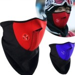 Bicyle Cycling Motorcycle Fleece Half Helmet Face Mask Winter Hood Windproof Cap Headwear Thermal for Sports Ski Snowboard